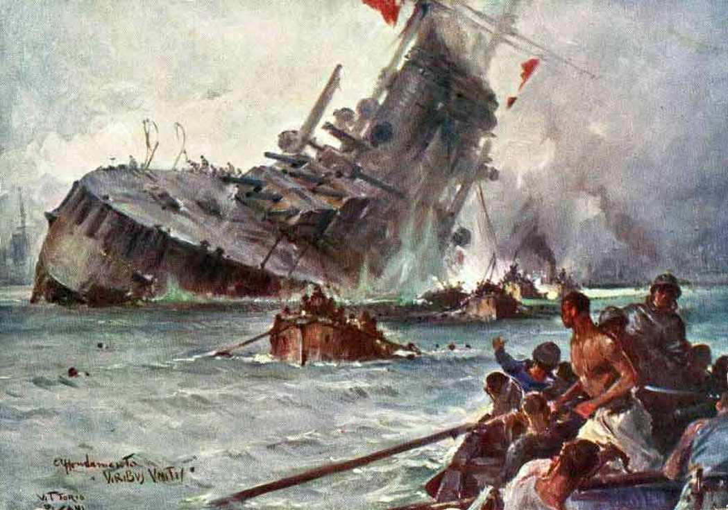 A zászlóshajó pusztulása.