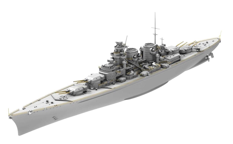 A Bismarck osztályt követő H–39 jelű csatahajók modellje.