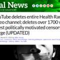Törölték a Natural News Youtube-csatornáját