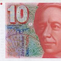 A Niburu pályája látható a svájci frankon