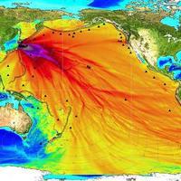 Ez a kép fukusima-i atomerőműből szivárgó radioaktív víz terjedését mutatja?