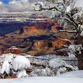 A Grand Canyon hóval fedve is varázslatos