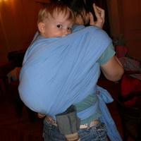 Rugalmas hordozókendő - kék Liliputi