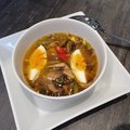 Keleties ízesítésű, gombás, zöldséges leves - avagy egy ízletes szombati karantén ebéd