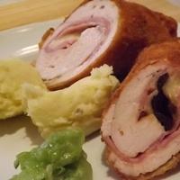 Cordon bleu - sajttal, sonkával ( és aszalt szilvával ) töltött csirkemell - II.