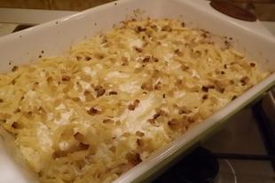 Túrós csusza saját készítésű tésztából ( ponty halászlé után )