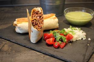 Csípős tex-mex burrito