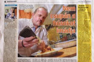 Egy újságcikk és egy étel születése