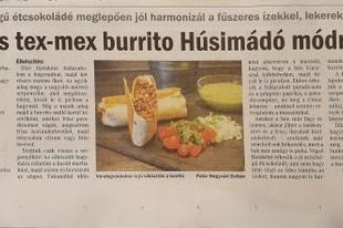 Csípős tex-mex burrito Húsimádó módra