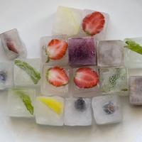 Gyümölcsös jégkockák