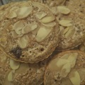 Mandulás-protein zabmuffin