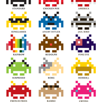 United colors of Space Invaders