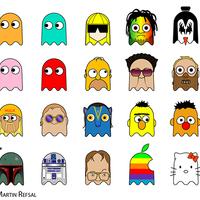 Boba Fett és Hello Kitty mint a Pac-Man szellemei
