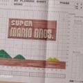 A Super Mario kockáspapíron készült