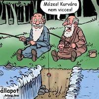Mózes poénkodik