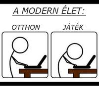 A modern élet