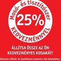 Ajánló: 25%-os kedvezmény mosó- és tisztítószerekre a dm-ben