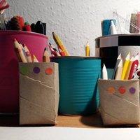 Rendszerezés a gyerekszobában #8: ceruzatartó papírhengerből