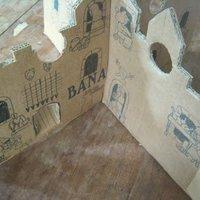 Papírvár kartondobozból