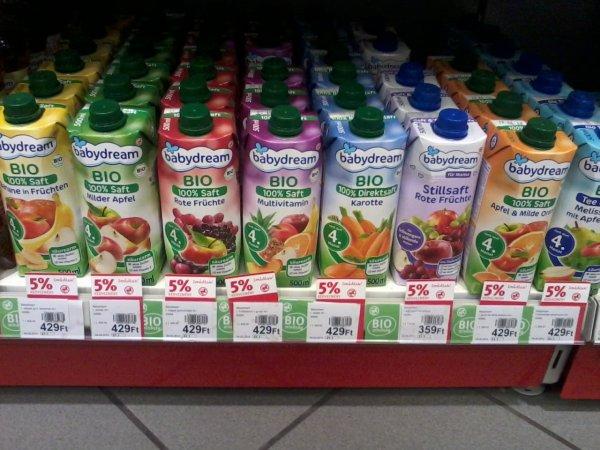 bio gyümölcslevek