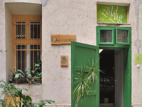 Zöld Zug, az Ökoszolgálat mintaboltja