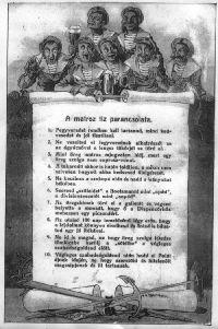 A matróz tíz parancsolata a nagykörűi Haditengerészeti Gyűjteményben