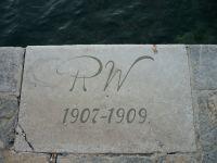 Whitehead torpedógyár RW monogram