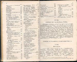 Marine-Almanach tartalomjegyzék
