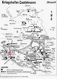 Kobila-szoros lőállások térkép