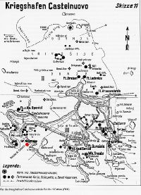 Mamula erőd térkép