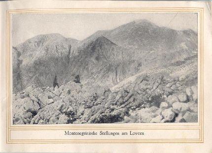 Montenegrói állások a Lovcsen oldalában