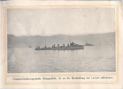 Osztrák-magyar hadihajók, melyek részt vettek a Lovcsen lövésében