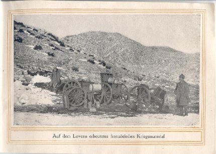 A Lovcsenen zsákmányolt francia hadianyag