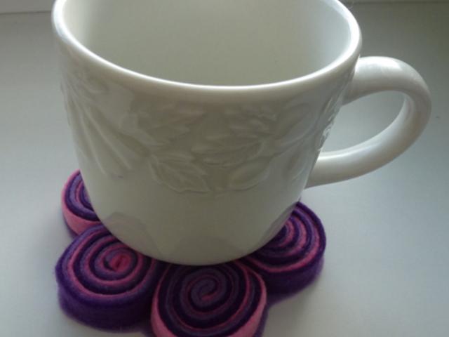 DIY: Bögrealátét filcből