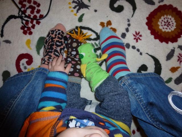 a mi felemás zoknijaink :)