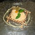 Sárgadinnye mousse, hideg egres mártással