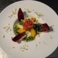 Narancsos édeskömény saláta, szárított mangalica sonkával