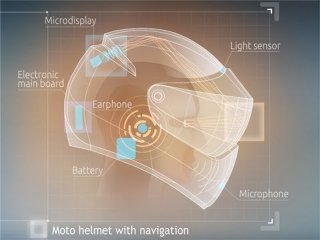 Itt a motorosok Google Glass-ja
