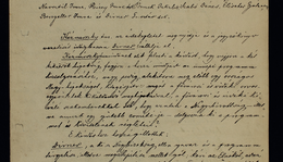 Record of founding the Semmelweis Memorial Executive Committee
