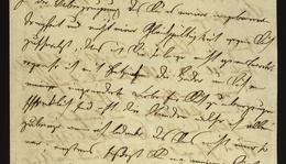 Ignaz Semmelweis's letter in German to Lajos Markusovszky (1815–1893)