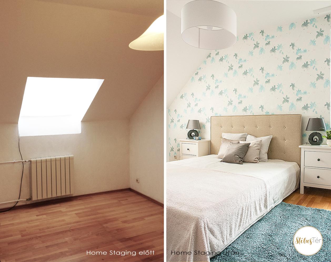 Egy vendégszoba átalakulás - Home Staging előtte és utána