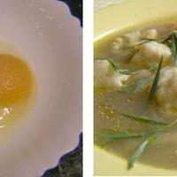 Sajtos juhtúrós gombóc levesbe vagy köretnek