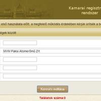 A kamarai regisztrációs adatbázis egy vicc