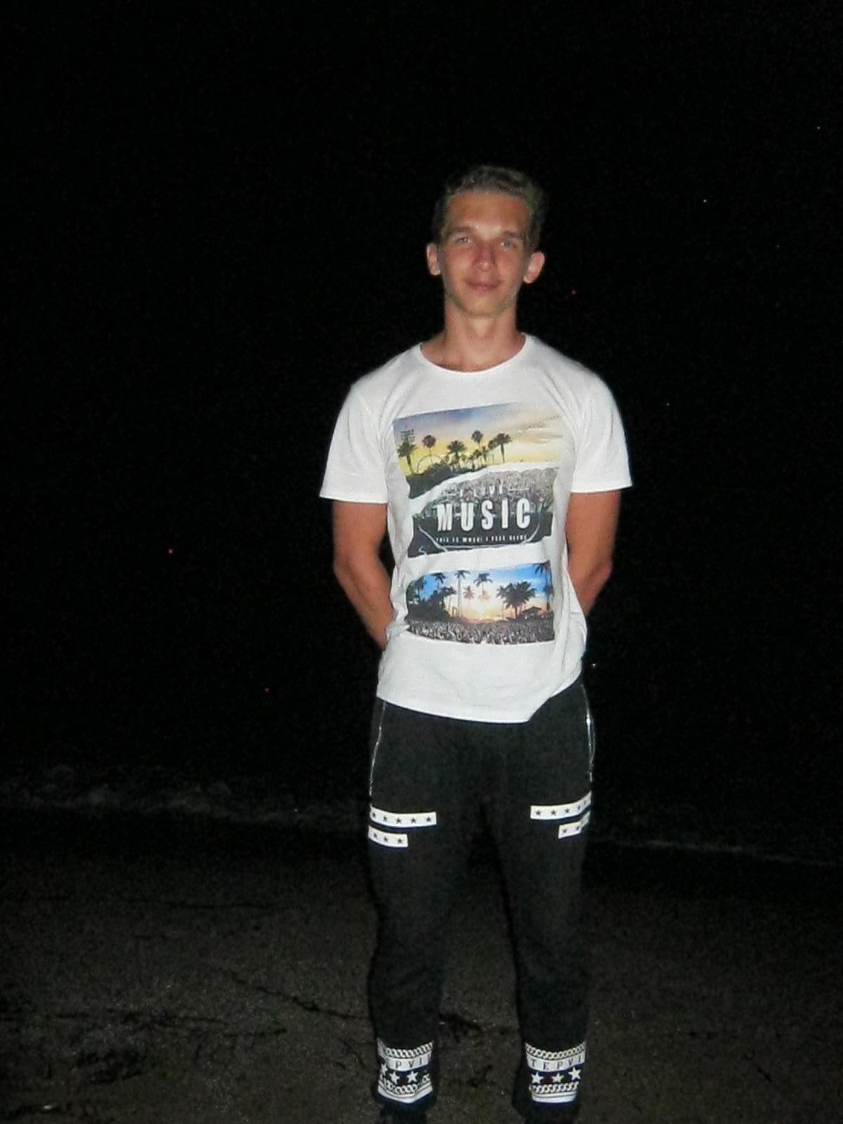 Első este, érkezés után, lent a parton