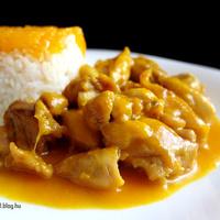 Mandarinos csirkeragu jázmin rizzsel