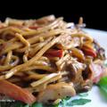 Sült zöldséges kínai tészta