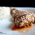 Édes-savanyú mártásban fürdetett szezámmagos csirke