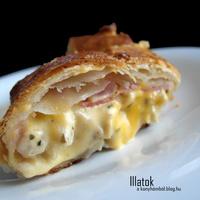 Cheddar sajtos csirkeragu rétestésztában