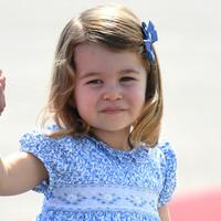 Cuki fotókon a 3 éves Charlotte hercegnő és kisöccse