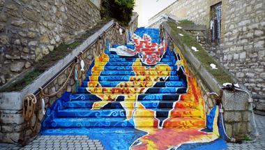 Így készült Tapolca legújabb látványossága, a Halas lépcső